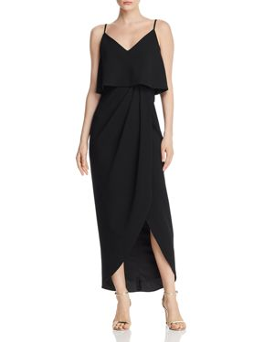 Aqua Tiered Crepe Dress - 100% Exclusive