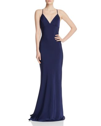 Draped Satin Gown by Faviana Couture