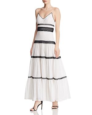 Jill Jill Stuart Dresses EYELET LACE MAXI DRESS