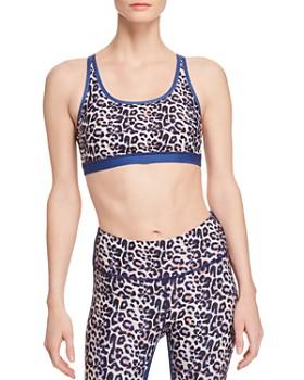 Wear It To Heart - Leopard Print Strappy Sports Bra - 100% Exclusive