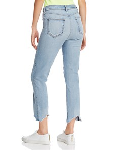 rag & bone/JEAN - Nina High-Rise Cropped Cigarette Jeans in Lapis