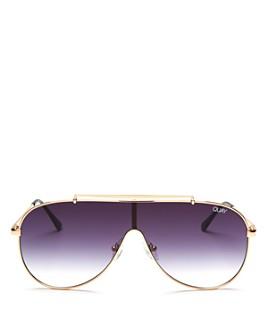 Quay - Women's QUAY x JLO Dinero Shield Aviator Sunglasses, 55mm