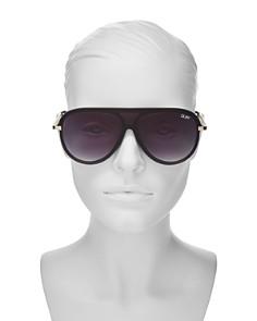 Quay - Women's QUAY x JLO The Playa Shield Aviator Sunglasses, 54mm