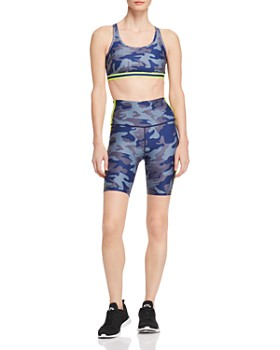 Wear It To Heart - Side-Stripe Camo Bike Shorts