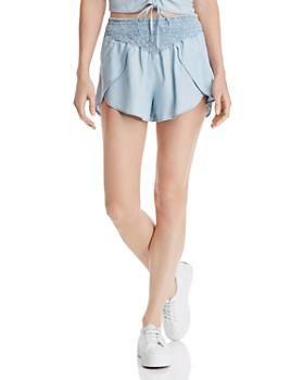 GUESS - Smocked Chambray Shorts