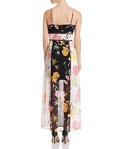 GUESS - Celora Floral-Print Color-Block Maxi Dress