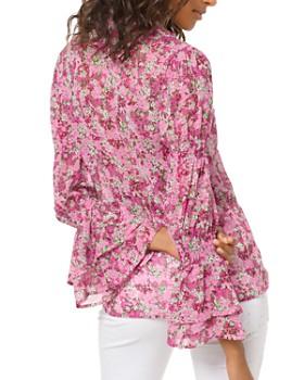 MICHAEL Michael Kors - Floral Smocked-Sleeve Blouse