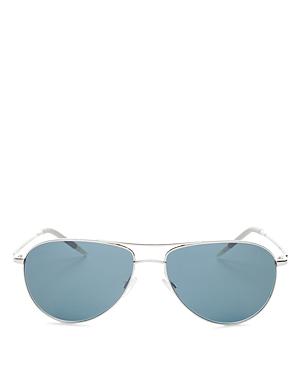 Oliver Peoples Sunglasses MEN'S BENEDICT BROW BAR AVIATOR SUNGLASSES, 59MM