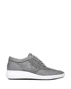 Via Spiga - Women's Macra 2 Raffia Lace Up Sneakers