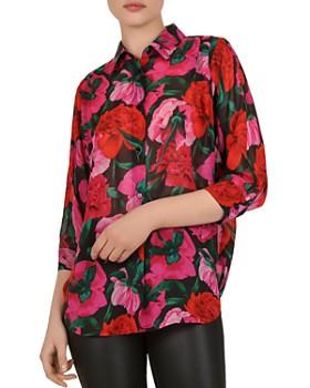 The Kooples - Dolce Vita Floral-Print Silk Shirt