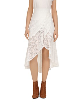 The Kooples - English Embroidered-Eyelet Tulip Skirt
