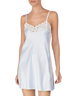 Ralph Lauren - Lace-Trim Satin Chemise