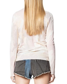 Zadig & Voltaire - Miss CP Camo-Print Cashmere Sweater
