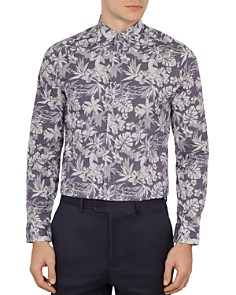 Ted Baker - Pandar Floral Dot Print Phormal Slim Fit Shirt