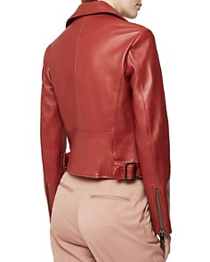 REISS - Sadie Leather Biker Jacket