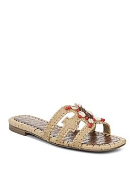 Sam Edelman - Women's Bradie Beaded Raffia Slide Sandals