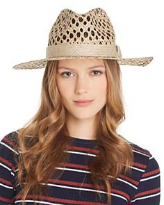 AQUA - Openwork Panama Hat - 100% Exclusive