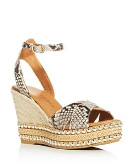 Kurt Geiger - Women's Amelia Espadrille Platform Wedge Sandals