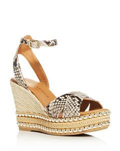 4d1d2b36b36 Via Spiga Women's Nevada Suede Platform Wedge Espadrille Sandals ...
