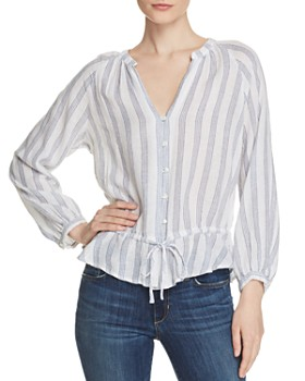 Rails - Marti Striped Drawstring Blouse