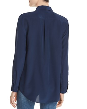 Relative Pi - Long-Sleeve Silk Blouse