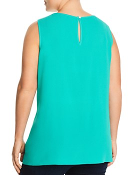 Status by Chenault Plus - Sleeveless Flutter-Front Top