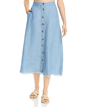 Show Me Your Mumu Skirts SHOW ME YOUR MUMU SHARON CHAMBRAY SKIRT