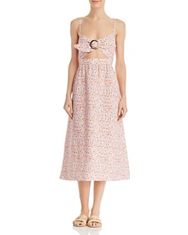 Fame and Partners - Floral-Print Midi Dress