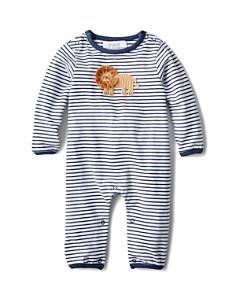 Albetta - Boys' Striped Crochet Lion Coverall, Baby - 100% Exclusive