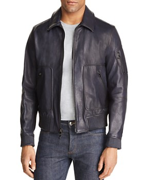 82212b140 Michael Kors - Piped Leather Flight Jacket - 100% Exclusive ...