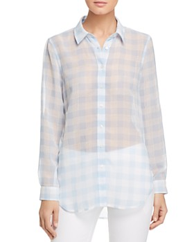 Calvin Klein - Semi-Sheer Gingham Shirt