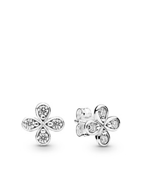8e0599b2b Pandora - Sterling Silver & Cubic Zirconia Flower Earrings