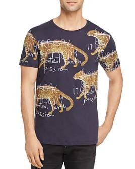 Antony Morato - Clouded Leopard-Print Graphic Tee