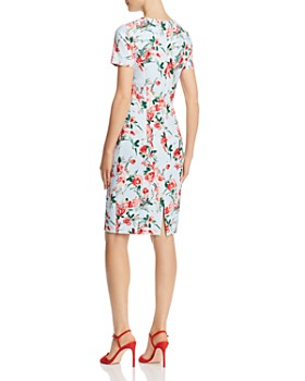 Black Halo - Jodee Watercolor Floral Sheath Dress