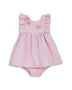 Miniclasix - Girls' Floral Ruffle Dress & Bloomers Set - Baby