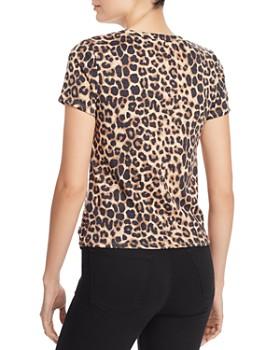 AQUA - Leopard-Print Twist-Front Tee - 100% Exclusive
