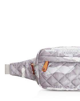 MZ WALLACE - Gray Camo Metro Belt Bag