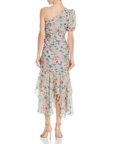Amur - Laura One-Shoulder Floral-Silk Dress