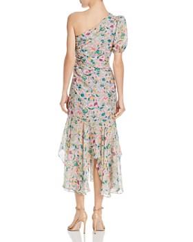 Amur - Laura One-Shoulder Floral-Silk Dress