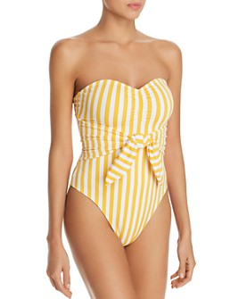 WeWoreWhat - Capri Striped One Piece Swimsuit