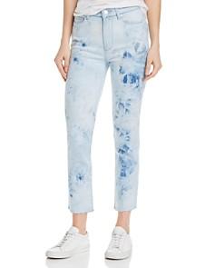 PAIGE - Hoxton Slim Raw-Hem Jeans in Indigo Tie Dye