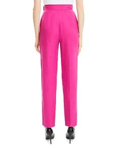 Theory - Pleated Linen High-Waist Pants