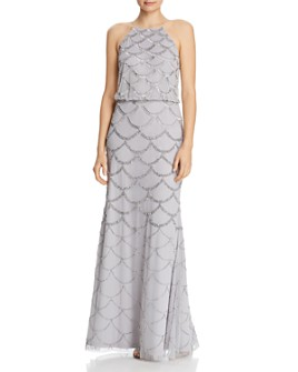 Adrianna Papell - Beaded Halter Gown