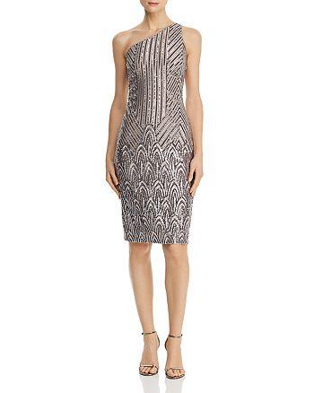 AQUA - Sequined One-Shoulder Dress - 100% Exclusive