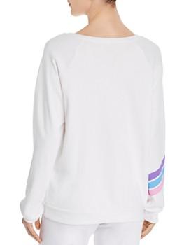 AQUA - Striped-Heart Sweatshirt - 100% Exclusive