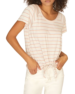 Sanctuary Tops LOU STRIPED TIE-FRONT TEE