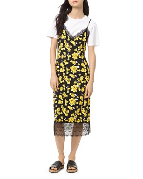66ba4e27f MICHAEL Michael Kors - Glam Fleur Midi Slip Dress ...