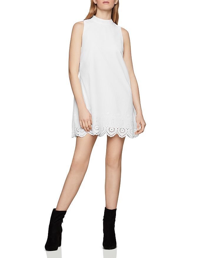 BCBGENERATION - Eyelet-Hem Shift Dress