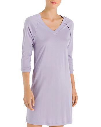 c9739dc201 Hanro Pure Essence Raglan Three-Quarter Sleeve Cotton Short Gown ...