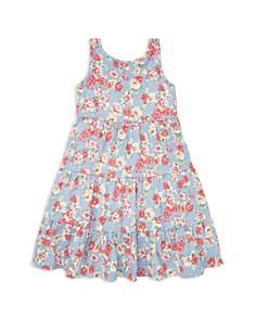 Ralph Lauren - Girls' Floral Jersey Dress - Little Kid